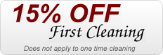 15% Off First Cleaning